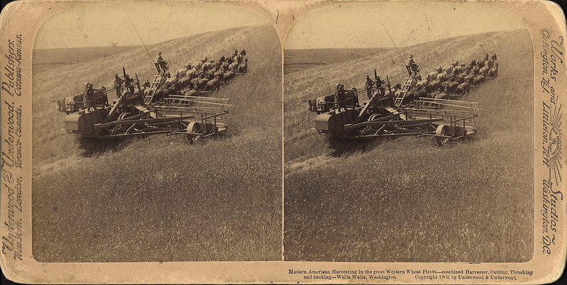 Horse-drawn Tractor, copyright 1902