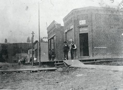 Downtown Elberton,1899.