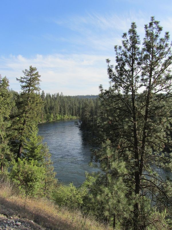 View of the Spokane River from the Aubrey L. White Parkway