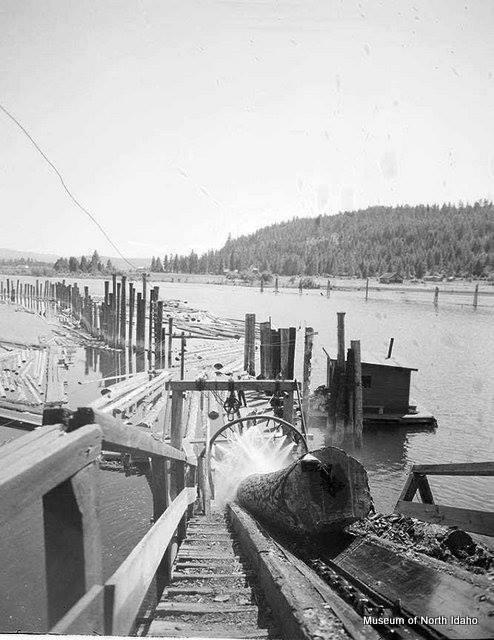 Chute emptying into the Spokane River.