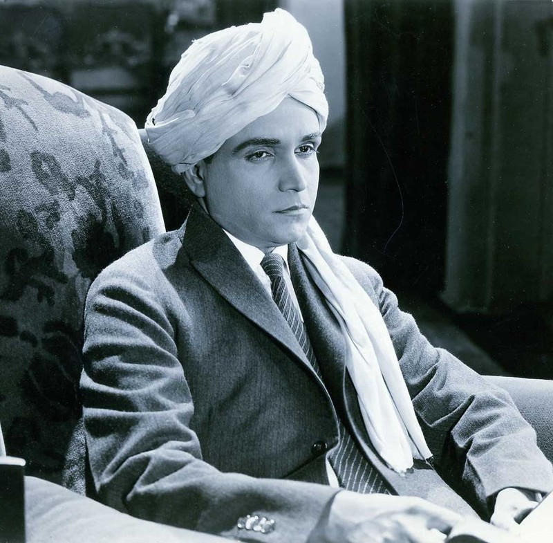 """Mozumdar in a promotional image for his 1923 film """"Beyond the Veil."""""""