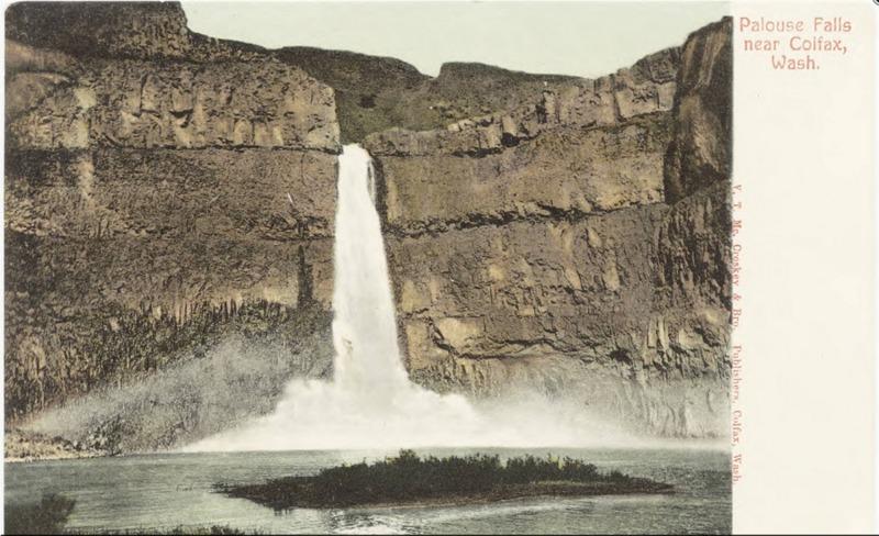 Palouse Falls Postcard, 1908
