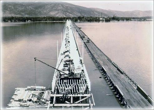 The second bridge to Sandpoint.