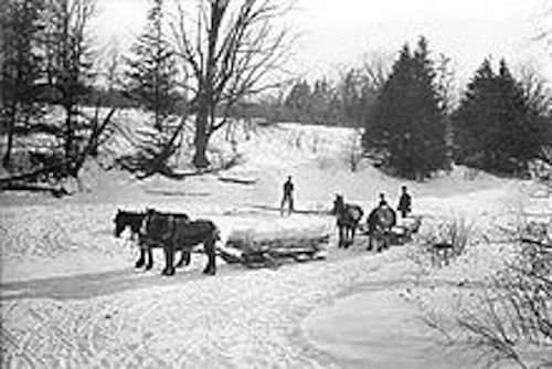 Ice cutters in Toronto- 1890s