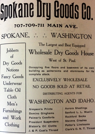Advertisement for Wholesale Goods