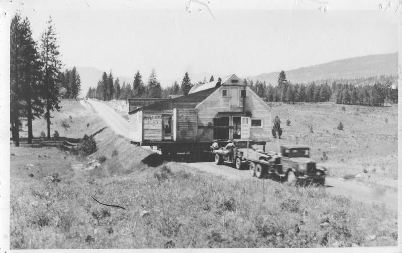 Truck Towing a House on a Trailer