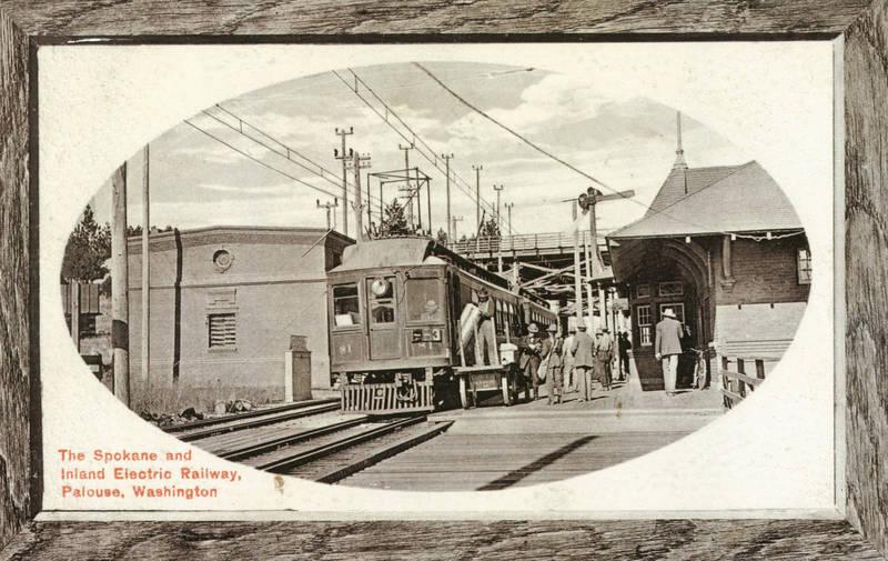 Spokane & Inland Empire Interurban at the Palouse Depot,1920