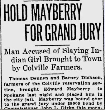 Hold Mayberry for Grand Jury