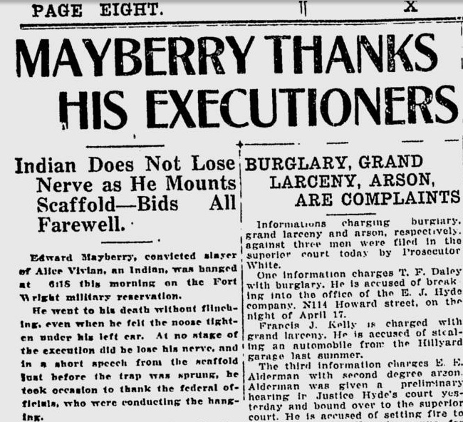 Mayberry Thanks His Executioners