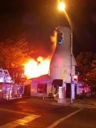 Milk Bottle on Fire