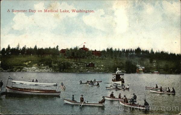 Summer Scene in Medical Lake