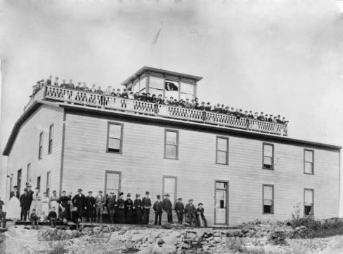 The Cashup Hotel on Steptoe Butte,1888.