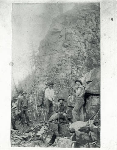 Laying railroad bed
