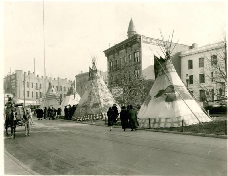 Blackfeet Teepees on Riverside Avenue (2)