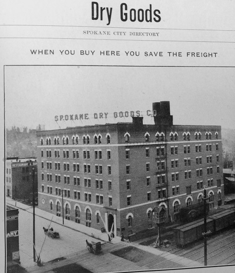 Advertisement for the Spokane Dry Goods Company